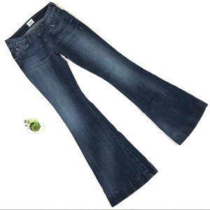 Hudson Ferris Flare Triangle Flap Jeans SFA Wash